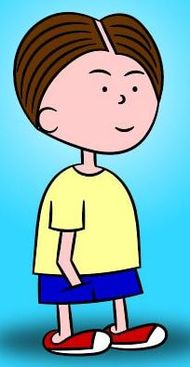 Cartoon image of the Think Shop comic strip character Landon