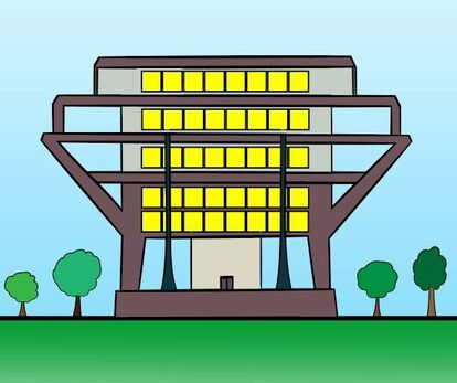 Cartoon image of the Think Shop comic strip Research Institute