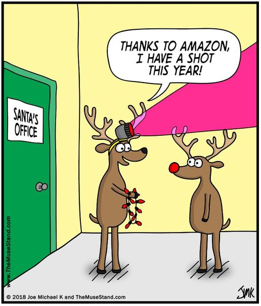 Amazon Helps Reindeer Compete With Rudolph