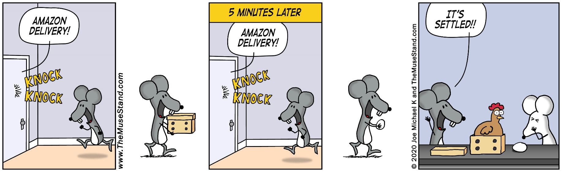 Amazon Delivery - The ThinkShop Comics