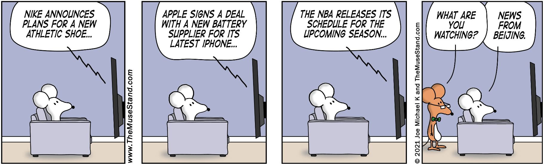 Nike, Apple, And NBA News - The ThinkShop Comics
